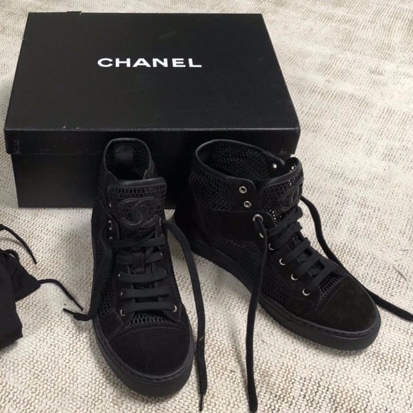 CHANEL Shoes | Chanel Mesh High Top